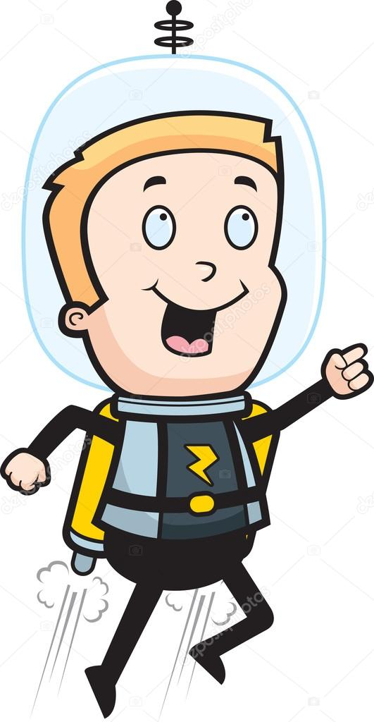 Astronaut clipart jetpack Pack #84543092 child with —