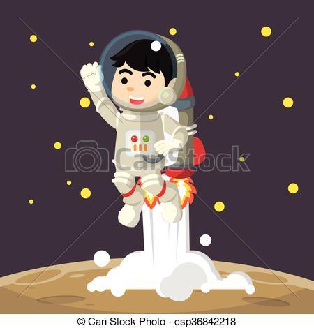 Astronaut clipart jetpack Astronaut jetpack Clip astronaut cartoon