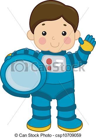 Boy clipart astronaut Of Illustration Astronaut Boy Vector