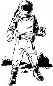 Retro clipart astronaut #1