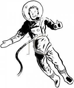 Retro clipart astronaut #4
