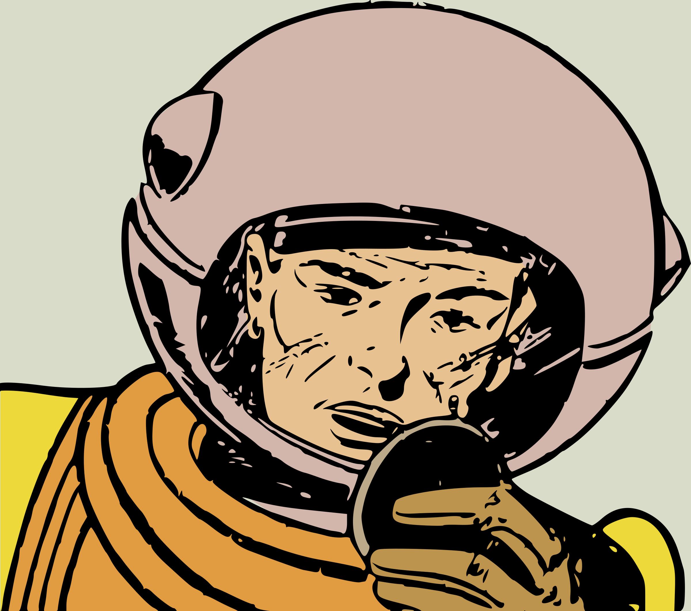 Retro clipart astronaut #6