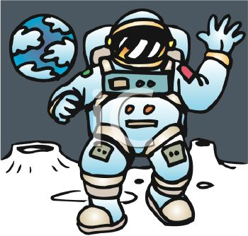 Astronaut clipart the moon drawing Pics space Astronaut On Cartoon