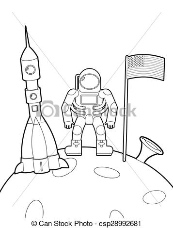 Astronaut clipart for kid Astronaut Astronaut book ship moon