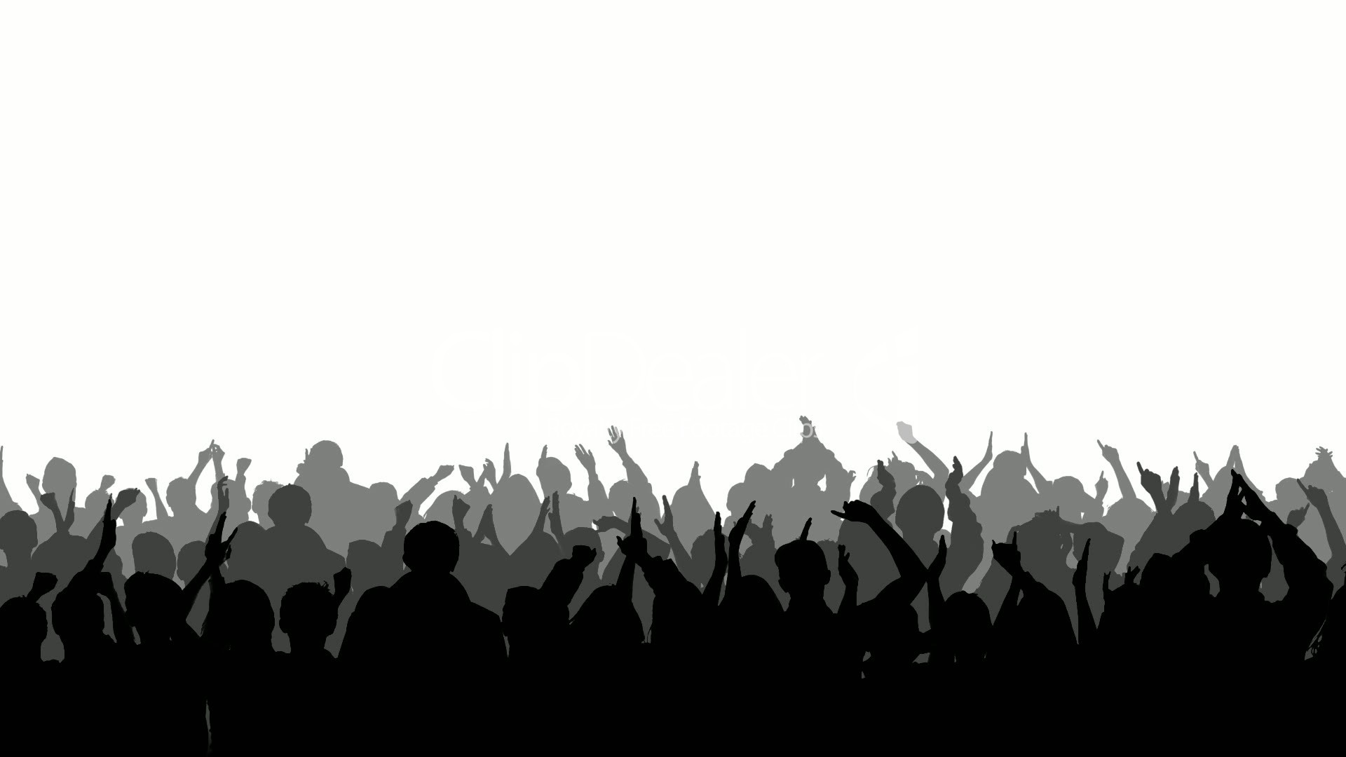 Shaow clipart little boy  of crowd clipart Cheering: