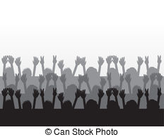 Audience clipart Silhouettes Illustrations Audience Audience Clipart
