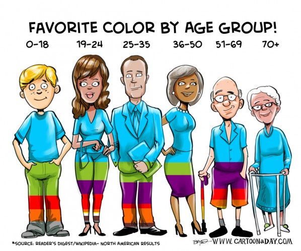Audience clipart different age group Age of Color when identifying