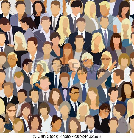 Audience clipart large crowd The Crowd EPS Vectors pattern