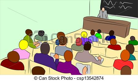Audience clipart lecture hall Csp13542874 Illustration Lecture lecture Vectors
