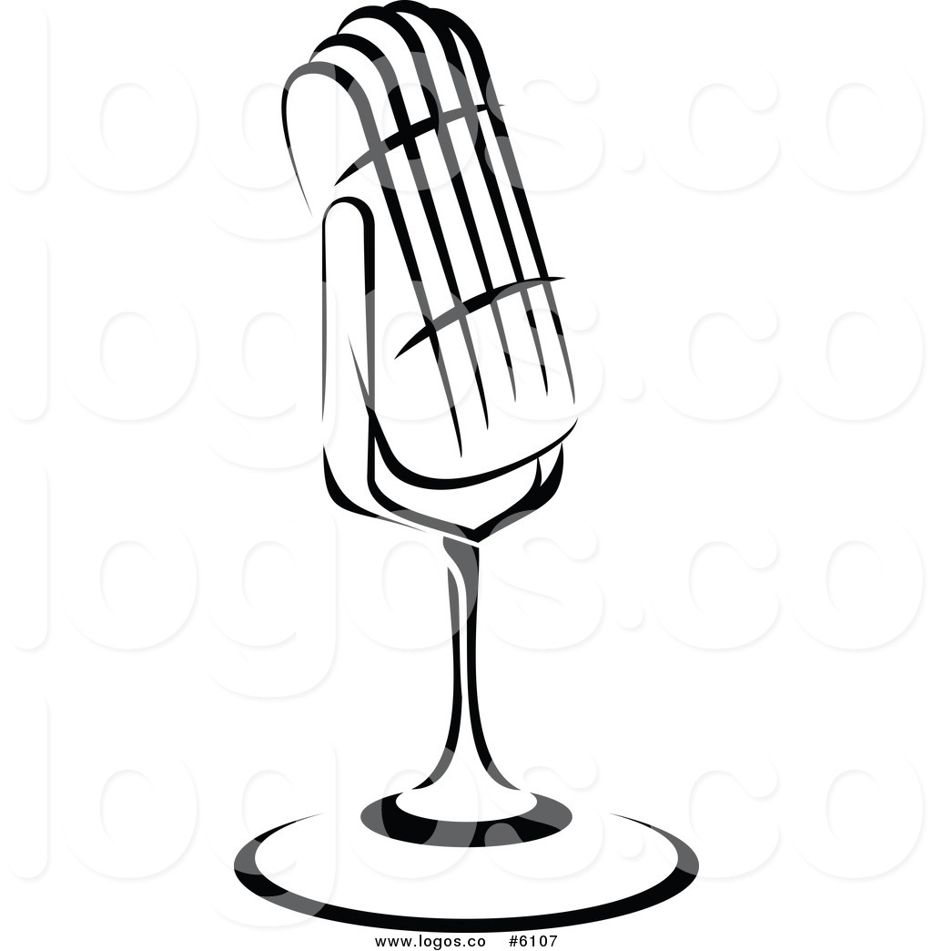 Microphone clipart black and white #12