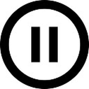 Audio clipart pause button #15