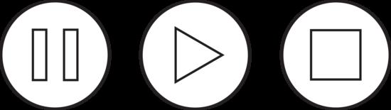 Audio clipart pause button #8