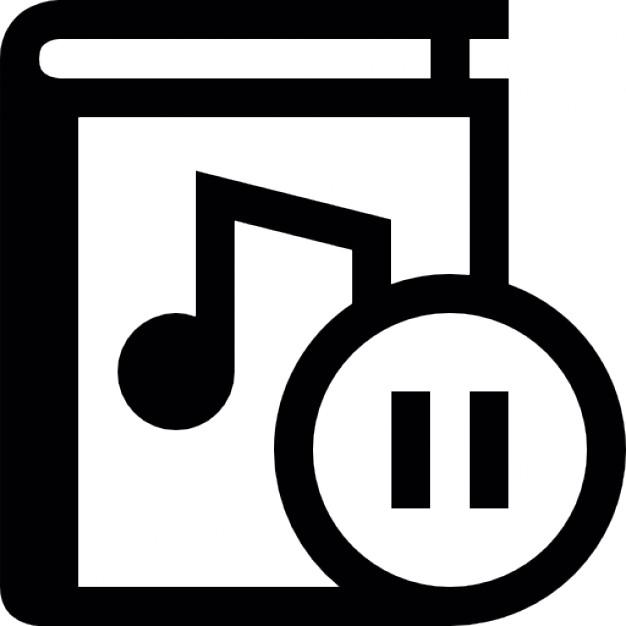 Audio clipart pause button #13