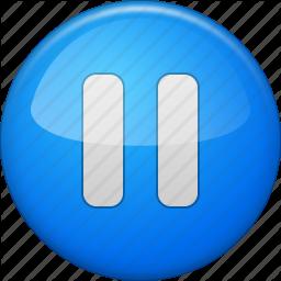 Audio clipart pause button #11
