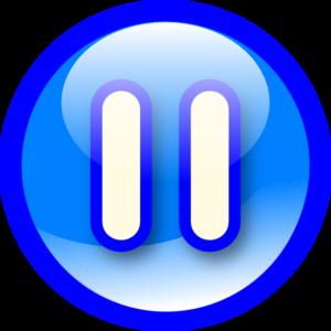 Audio clipart pause button #10