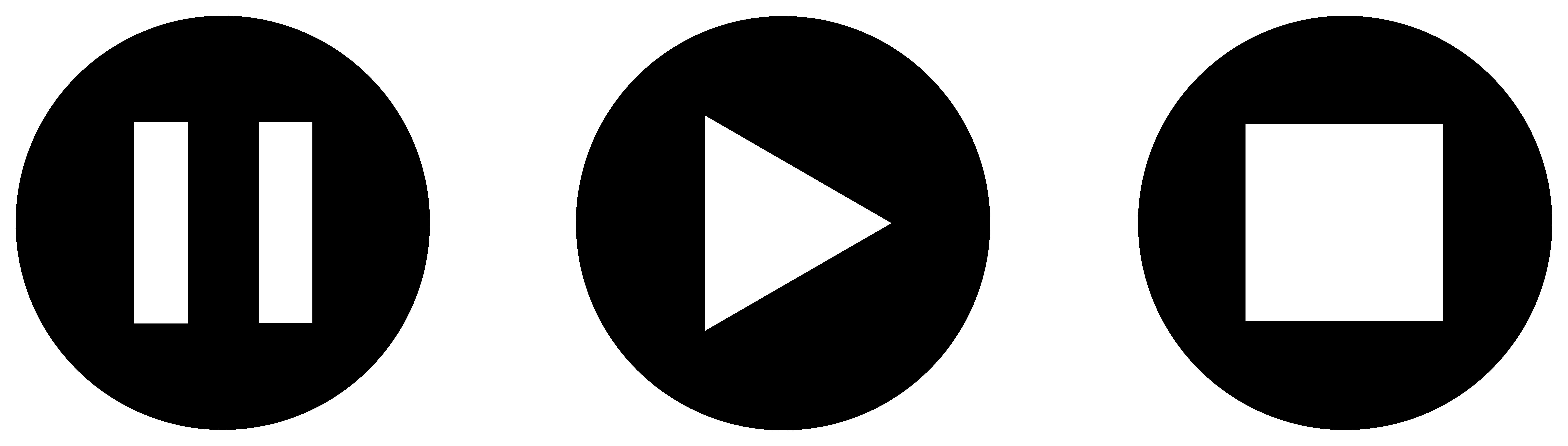 Audio clipart pause button #4
