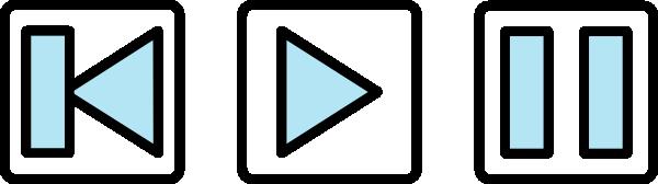 Audio clipart pause button #5