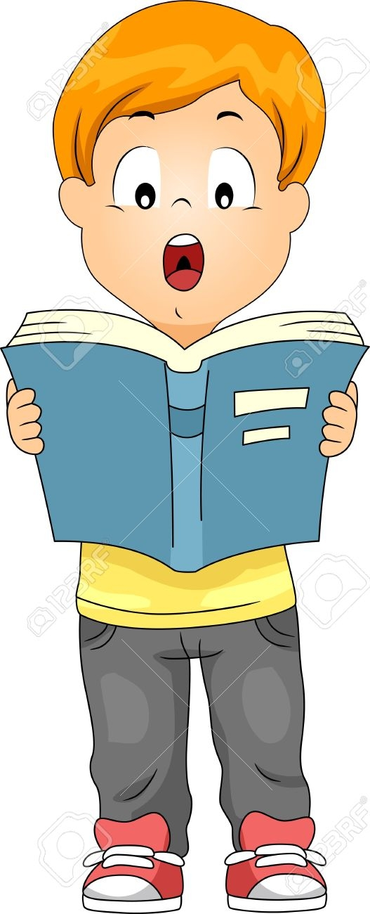 Audio clipart reading aloud #6