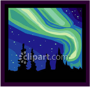 Aurora Borealis clipart Lights Above Clipart Forest Above