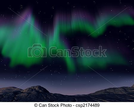 Aurora Borealis clipart Lights csp2174489 lights the Northern