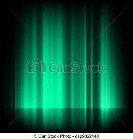 Aurora Borealis clipart real Of northern EPS 8 blue