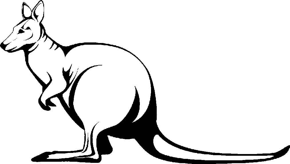 Drawn kangaroo black and white Clipart com kangaroo Kangaroo clipart