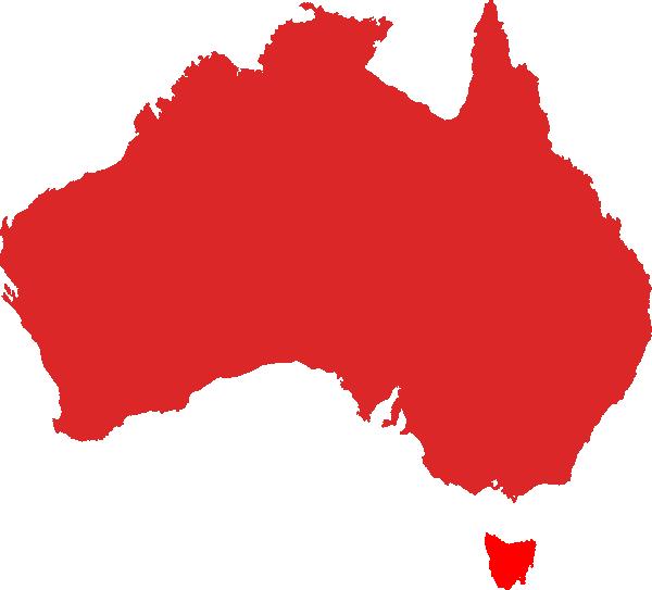 Australia clipart Australia Map Clipart Clker Red com at as: