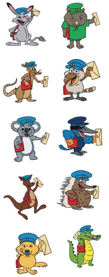 Australia clipart Australian Animal Clipart Clipart 00 Postal Australia Animals