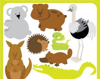 Australia clipart Australian Animal Clipart Etsy bear kangaroo Animals art