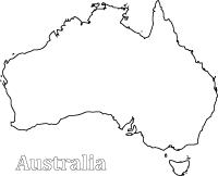 Australia Clipart Black And White (printable) Clip Australia Art coloring