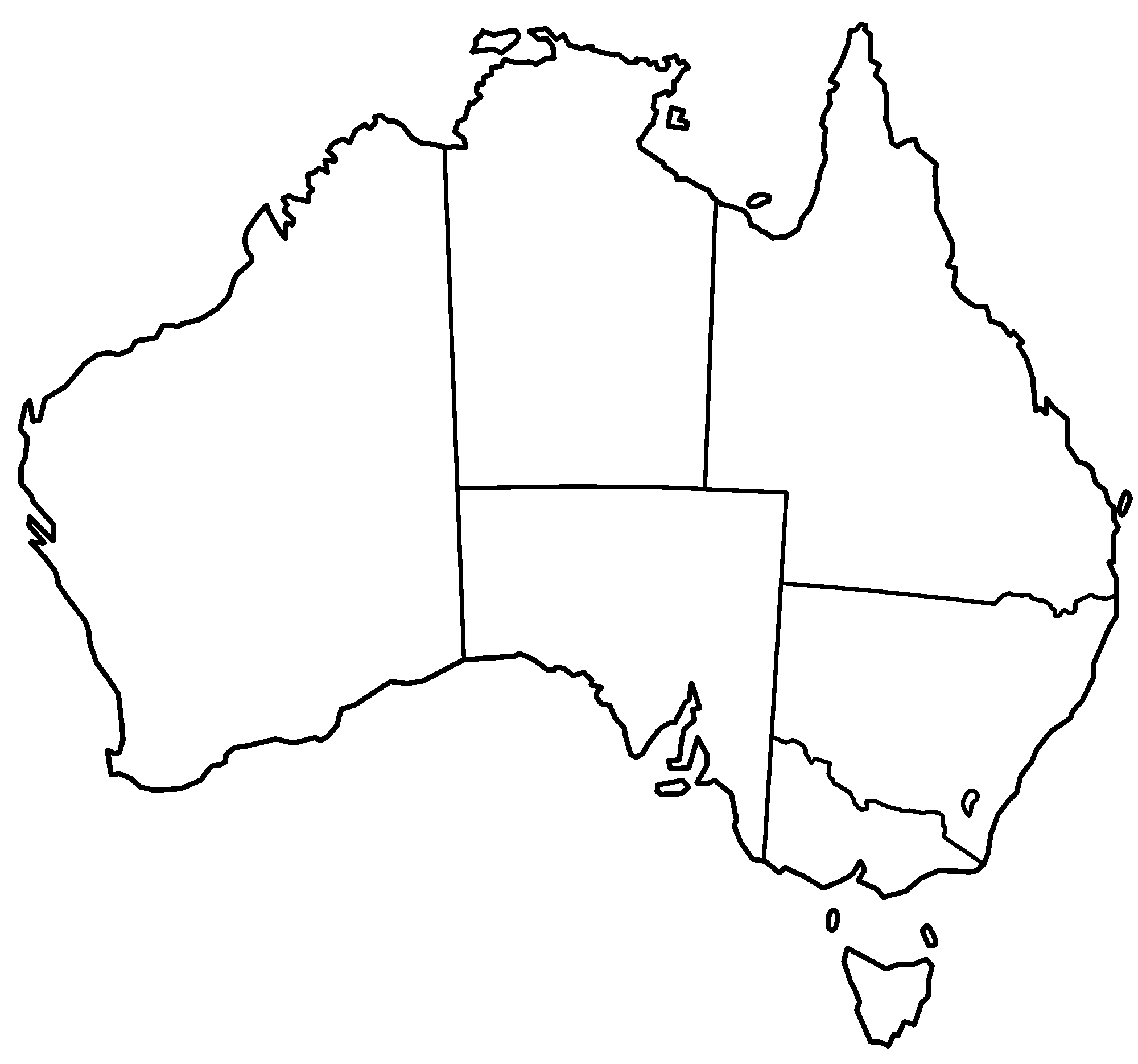 Australia Clipart Black And White Draw To Clip Free