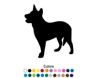Australian Cattle Dog clipart Heeler Decal Sticker Blue Etsy