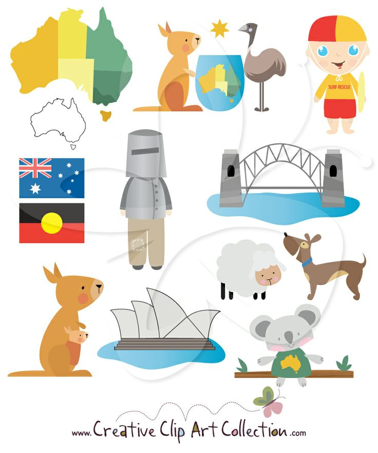 Australian clipart Art Collection Australia best Clip