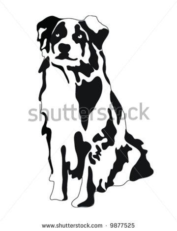 Australian Shepherd clipart Illustration Vector Dog Australian