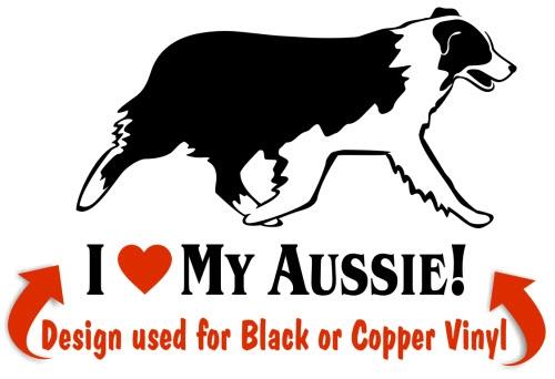 Australian Shepherd clipart Decal Window Shepherd NickerStickers This