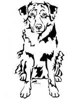 Australian Shepherd clipart Shepherd Australian Wandtattoo Dog by