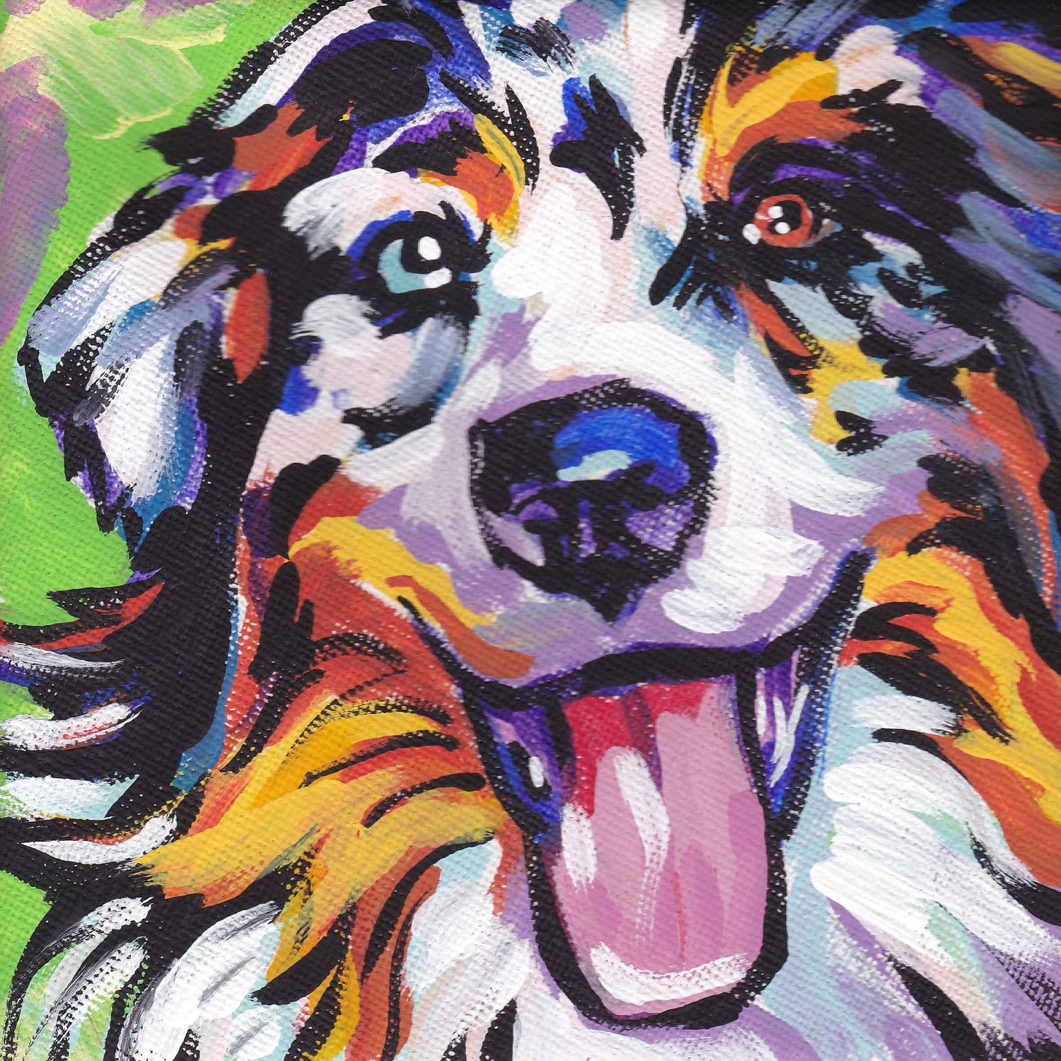 Australian Shepherd clipart Australian Shepherd Head Drawing Art art merle dog pop
