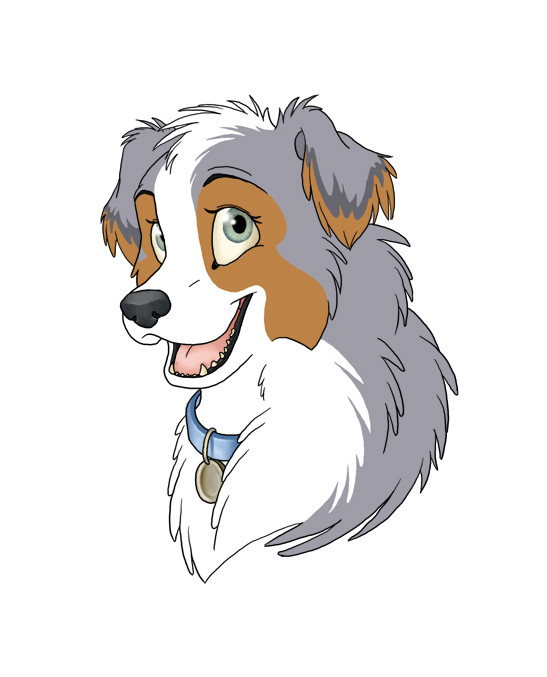 Australian Shepherd clipart Australian Shepherd Head Drawing Drawing Search  Pinterest Search