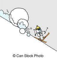 Avalanche clipart snow mound  illustration  drawn Stock