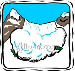 Avalanche clipart snow mound Big Picture Free Mountain Avalanche
