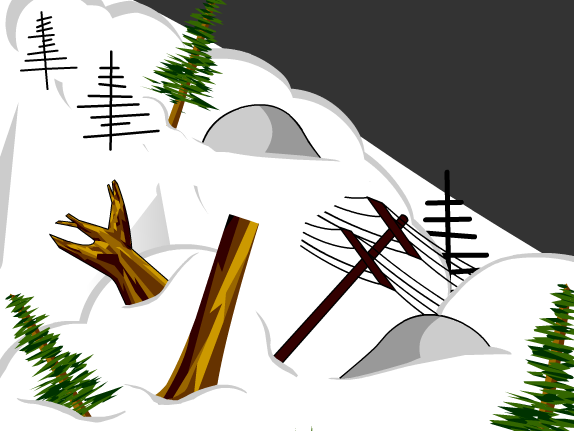 Avalanche clipart snow mound  Avalanches BrainPOP