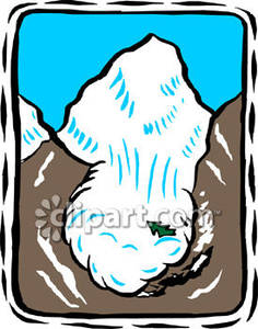 Avalanche clipart On On Clipart Picture A