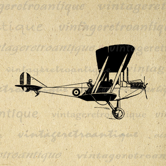 Aviation clipart old plane Printable Old Digital  Airplane