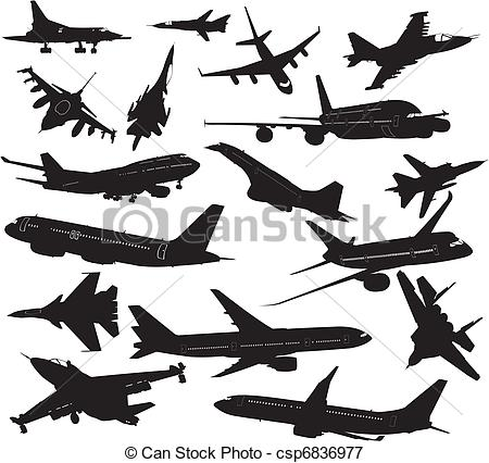 Aviation clipart vector Silhouettes aircraft silhouettes aircraft