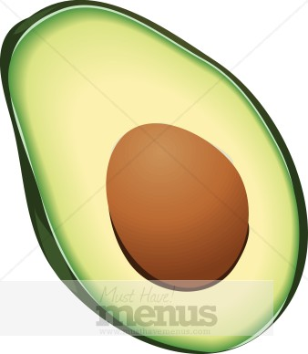 Avocado clipart chip guacamole Fruit Clip Avocado Avocado Clipart