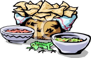 Tortilla clipart mexicano Picture Clipart of Basket Salsa