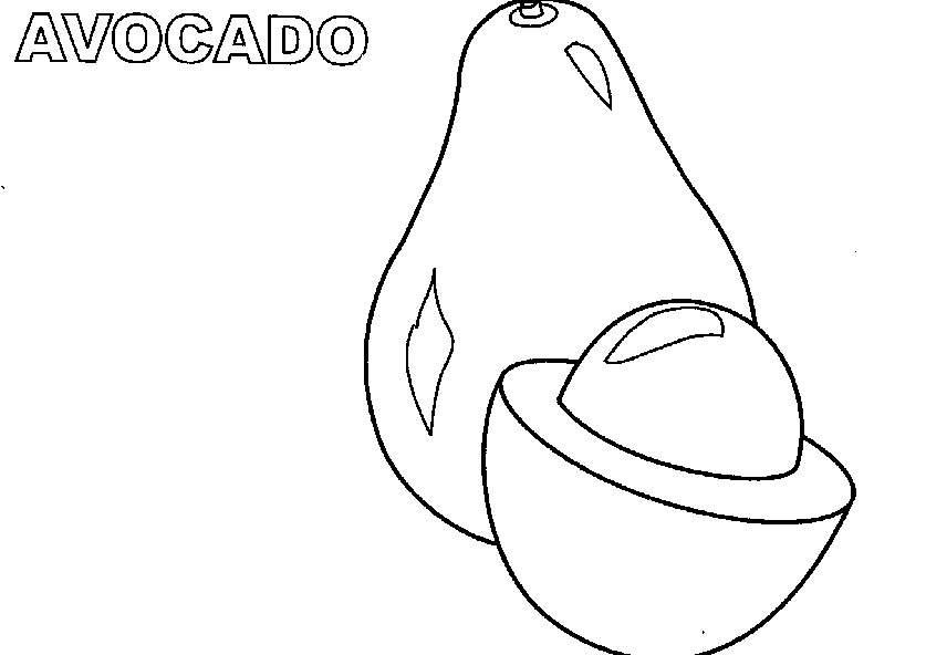 Avocado clipart coloring Coloring  #Avocado Coloring Pages