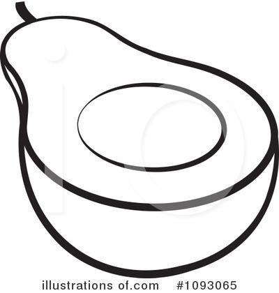 Avocado clipart coloring Avocado Free Illustration by Perera