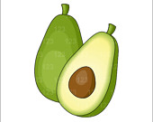 Avocado clipart vegetable Similar Clip Single to Art