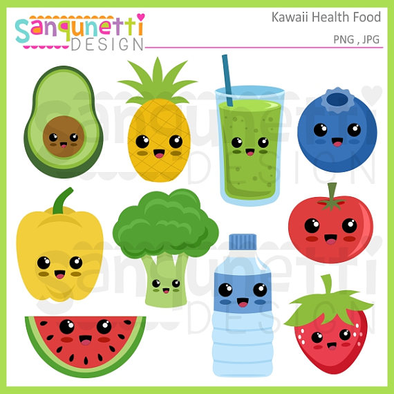 Smoothie clipart beach drink Kawaii Kawaii vegetable clipart clipart